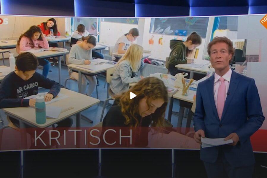 Wilhelminaschool in Coevorden op NOS-journaal